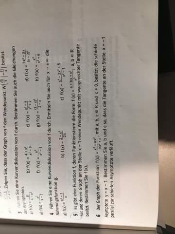 unbekannte einer Funktion mithilfe einer Asymptote finden?