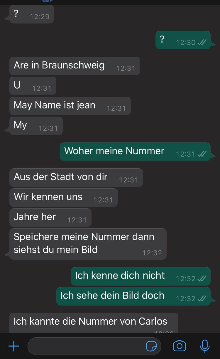 Unbekannte Nummer angeschrieben? (Handy, Frauen, WhatsApp)