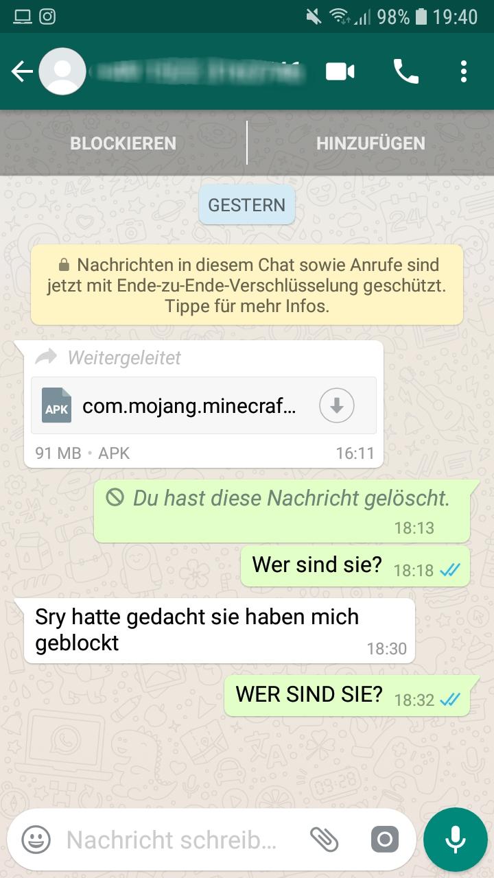Whatsapp Unbekannte Nummer