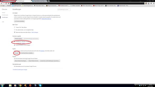 Unbekannte Suchmaschine öffnet sich beim Start von Google Chrome?