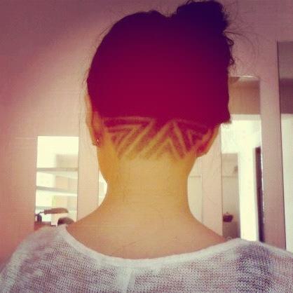 Undercut Haare Styling Haare Abrasieren