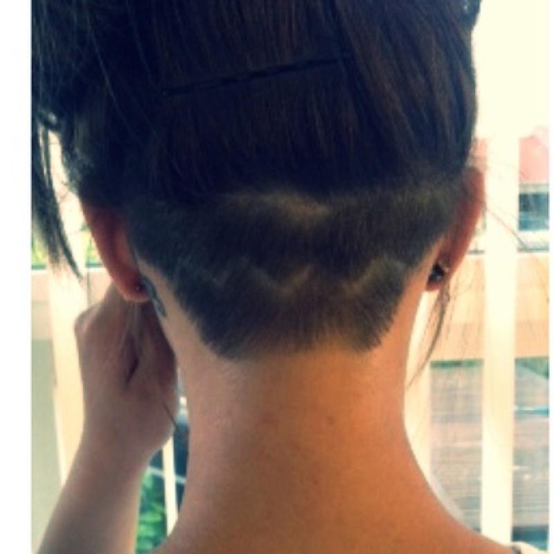 undercut für frauen mit langen haaren