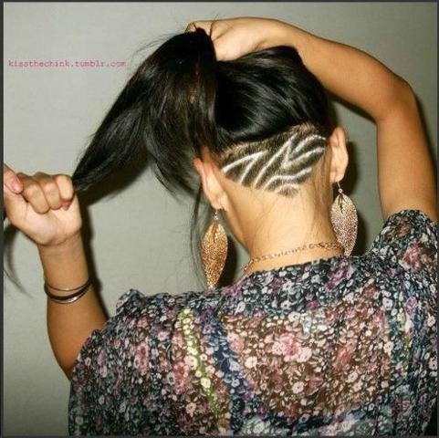 Undercut  - (Haare, Haarschnitt, Muster)