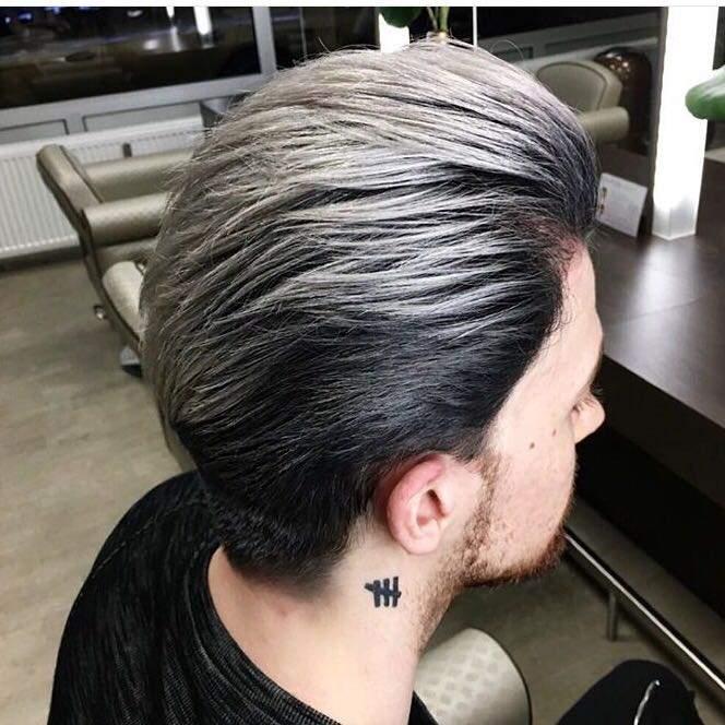 Männer graue strähnen Graue Haare: