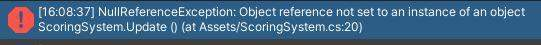 Unity: Null Reference Exception?