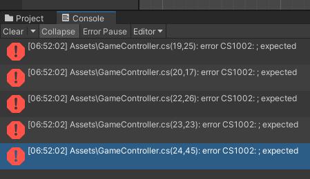 Unity: Warum bekomme ich den Fehlercode CS1022?