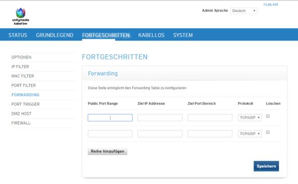 Unitymedia Kabel Bw Ports Für Minecraft Server Freischalten Port - Minecraft server erstellen portfreigabe