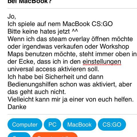 Bitte anschauen - (Computer, Steam, MacBook)