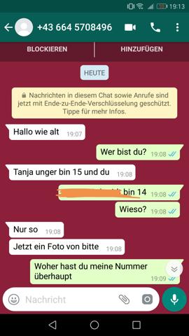Maedchen whatsapp nummer