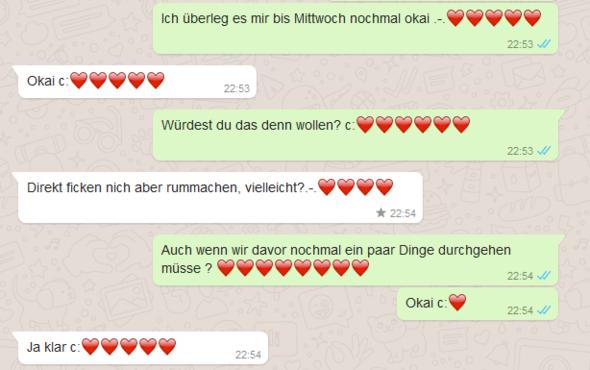 Whatsapp Chatverlauf_1 - (Beziehung, Sex, Angst)