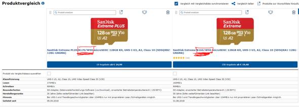 Unterschied der MicroSD Karten?