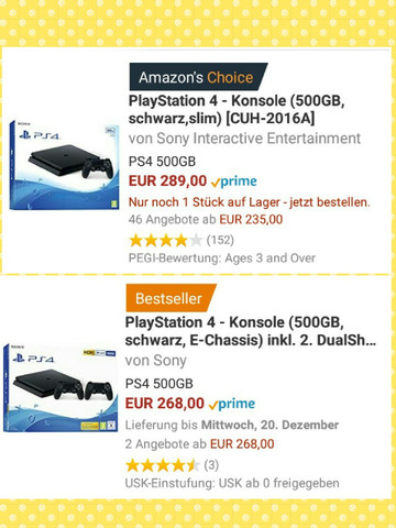 - (Computer, PS4, Unterschied)