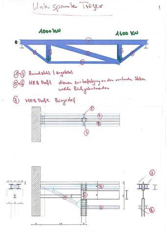 unterspannter Träger - (Bau, Montage, Stahl)