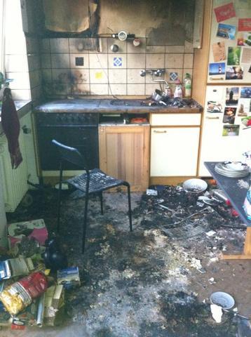 Unverschuldeter Wohnungsbrand Mietwohnung Haus