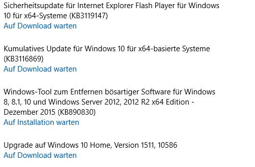 So sieht es bei mir aus - (Windows, Update, Windows 10)