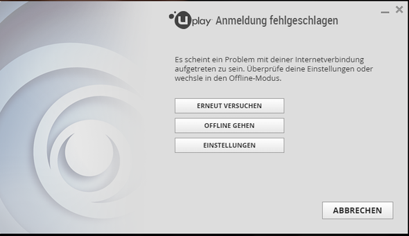Fehlermeldung - (Internet, Anmeldung, uplay)
