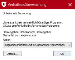 Meldung 1 - (Computer, Virus, Antivirus)