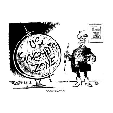 USA als Weltpolizist/ Karikatur? (Schule, Politik, Welt)