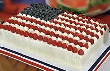 Kuchen mit usa flagge