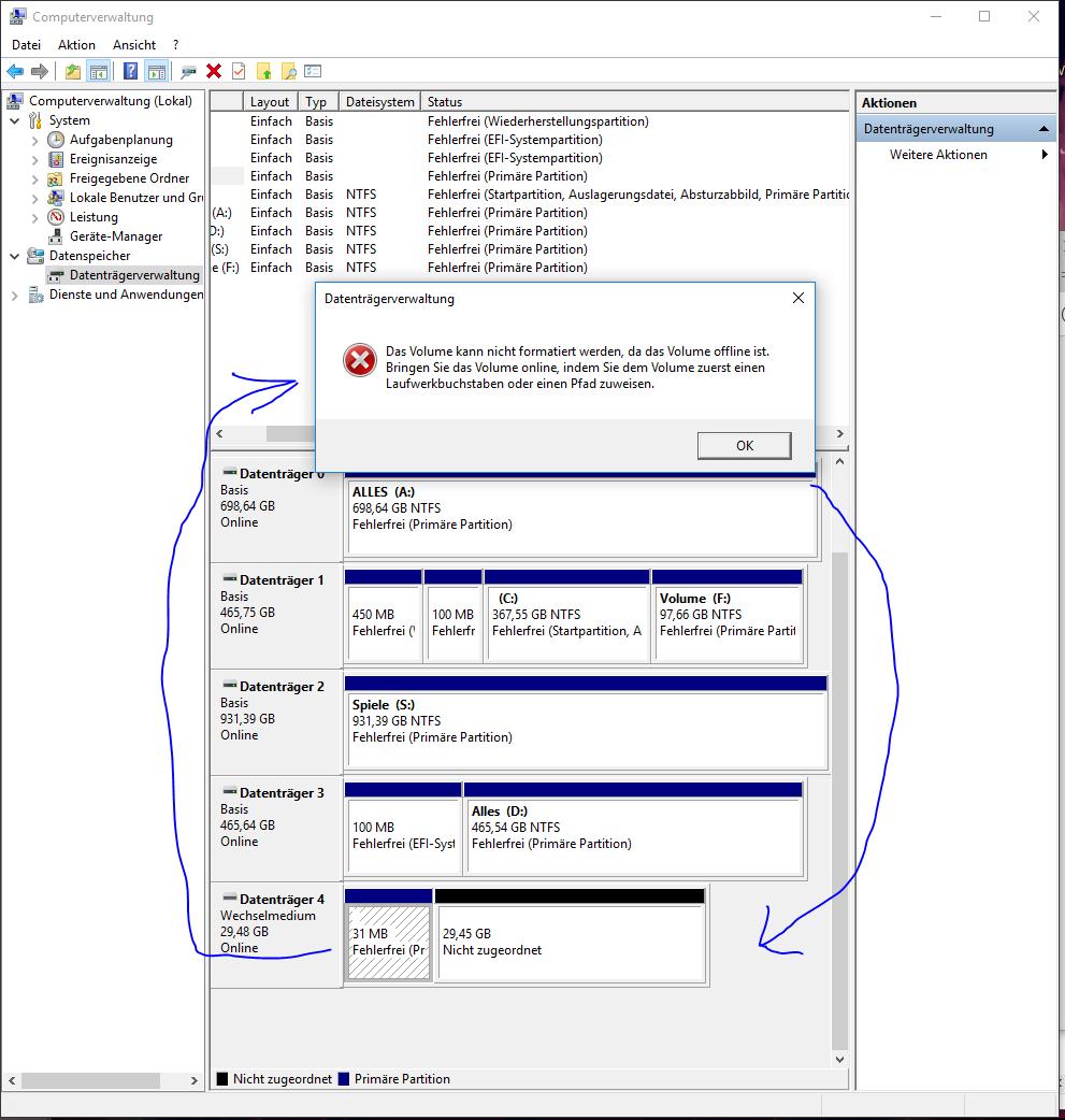 USB stick kann nicht Formatiert werden Siehe Bild? (Speicher, USB-Stick)