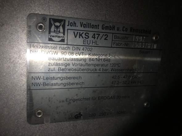 Vaillant VKS 47/2 Störung?