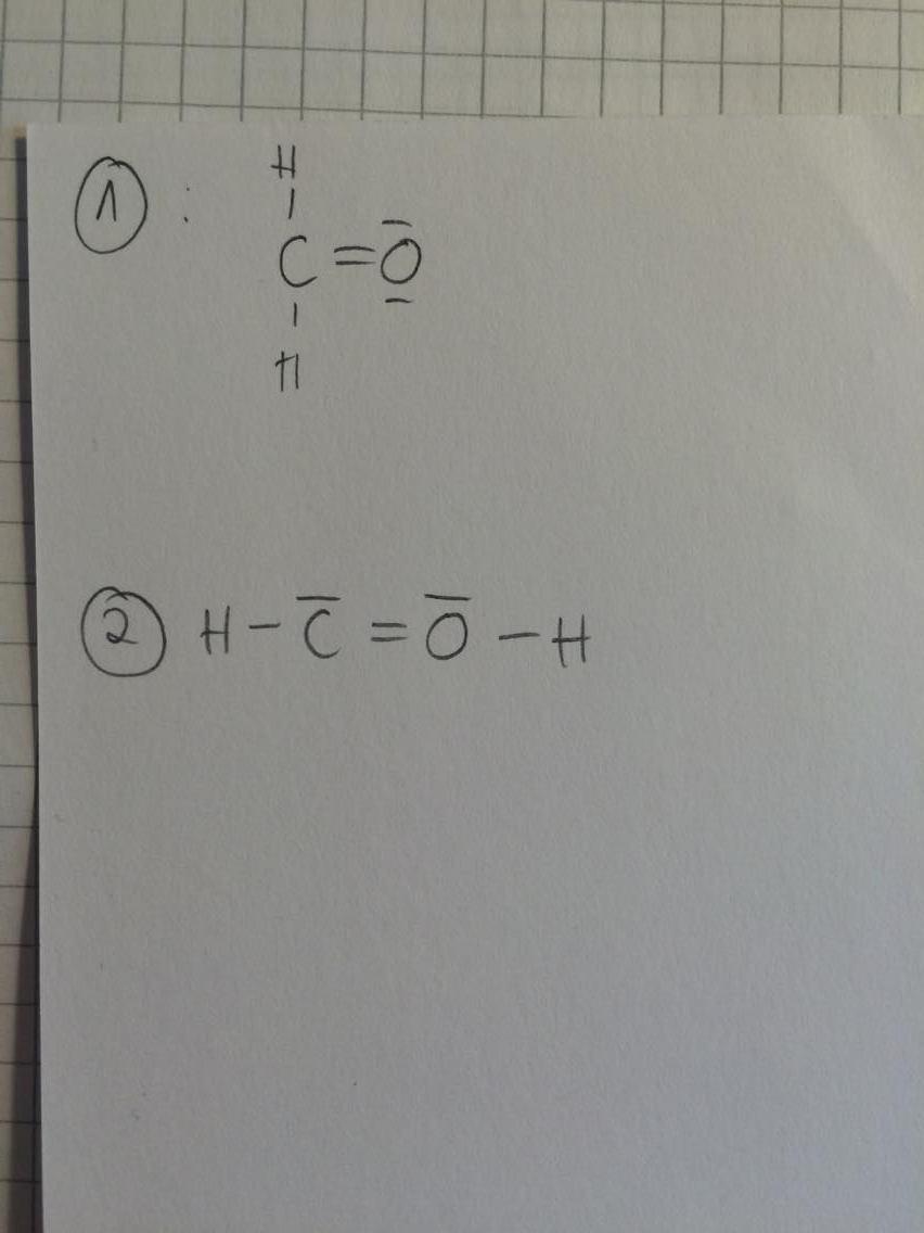 Valenzstrich-/Lewis Formel Formaldehyd? (Chemie)