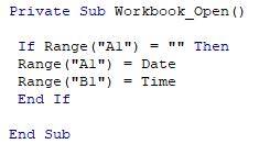 - (Computer, Excel, VBA)
