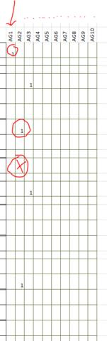 Tabelle, dort soll jede Spalte inzeln auszufüllen sein und man soll so bestimmen - (programmieren, Microsoft, Excel)