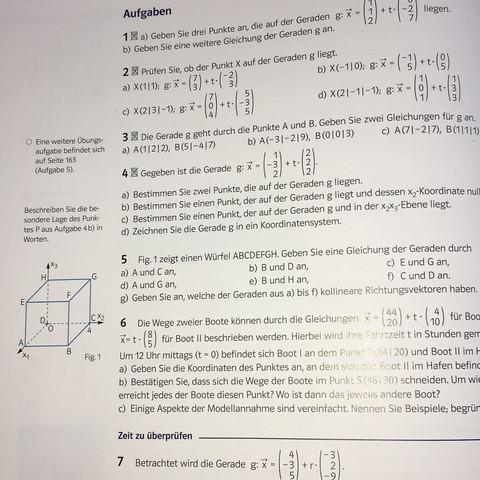 Nummer 5 - (Mathe, Vektoren)