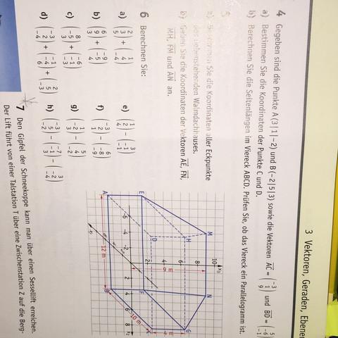 Aufgabe 4 - (Mathe, vektoren)