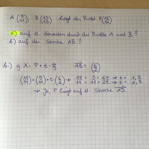vektoren liegt der punkt p auf der geraden mathematik mathe algebra. Black Bedroom Furniture Sets. Home Design Ideas