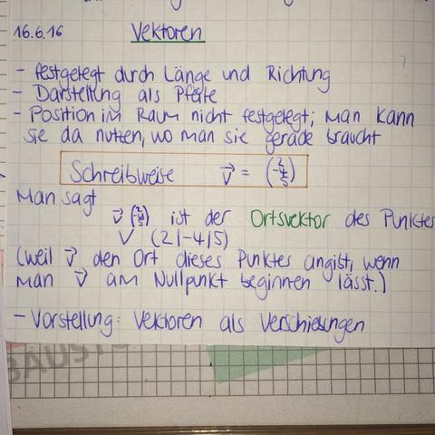 Erklärung - (Mathematik, Vektoren)