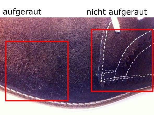 Veloursleder Schuhe Fusseln Nach Reinigung Pflege Fussel Wildleder