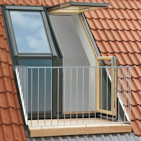 Velux dachbalkon  - (Holz, Balkon, Dach)