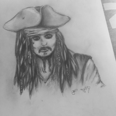 Captain jacks sparrow ^^  - (Kunst, zeichnen, malen)