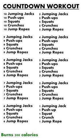 300kcal Workout? - (Sport, Kalorien, Übungen)