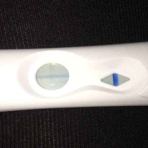 10minuten danach  - (Schwangerschaftstest, VL, verdunstungslinie)