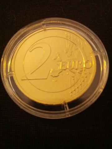 Vergoldete 2 Euromünzen Freizeit Vergolden 2 Euromuenze