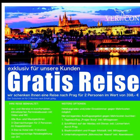 Gratis Reise Bkk Krankenkasse Prag - (Krankenkasse, Wechsel, AOK)