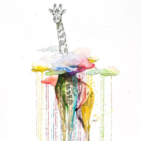 Eben über den getrockneten Körper nasse Farbe lassen. - (Kunst, malen, Leinwand)