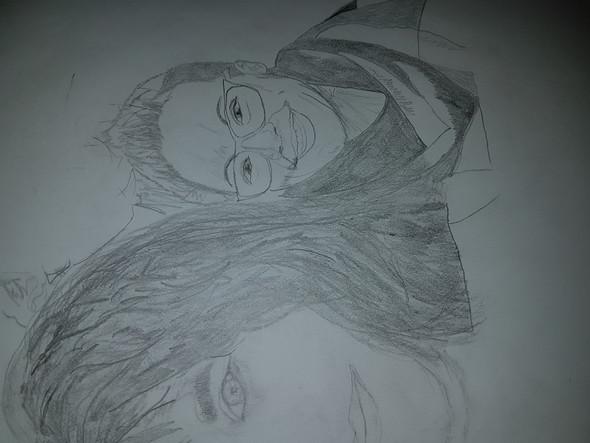 Versau Ich Die Skizze Fürs Portrait Zeichnen Bleistift
