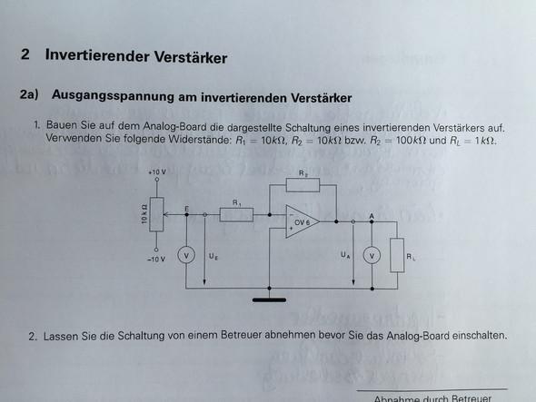 Verstärkungsfaktor vom Operationsverstärker berechnen, wie? (Physik ...