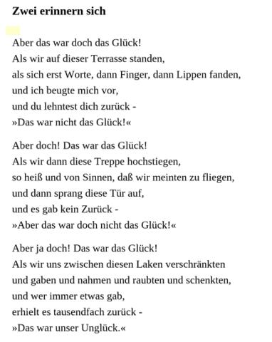 um dieses Gedicht handelt es sich :) - (deutsch, Geschichte, Gedicht)