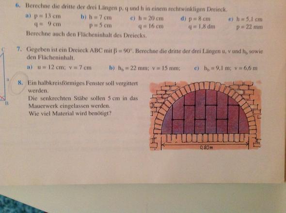 Aufgabe 8 - (Mathematik, Satz des Pythagoras)