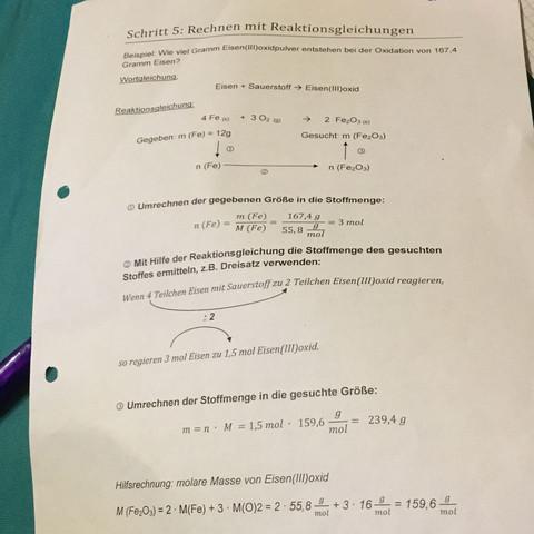 - (Schule, Chemie, Rechnen)
