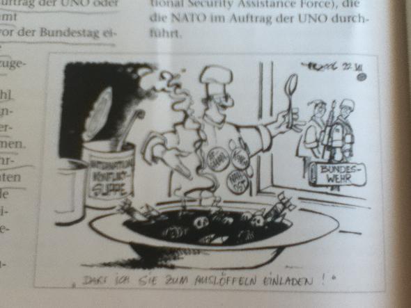 Karikatur  - (Bundeswehr, Friedenssicherung)