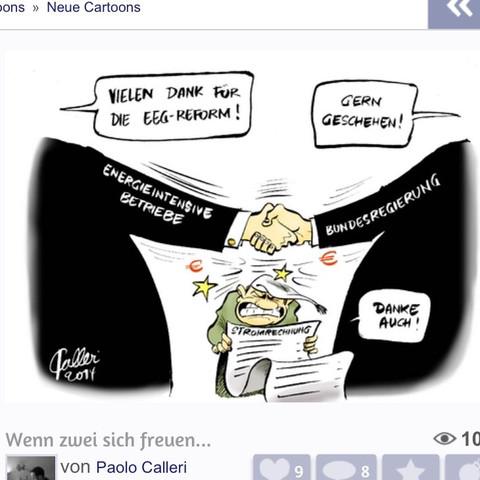 Das ist die Karikatur: - (Politik, Karikatur, Deutung)