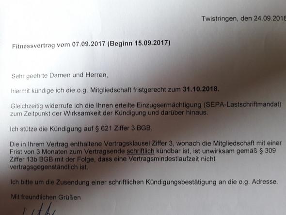 Vertragskündigung Fitnessstudio Rechtens Oder Nicht Recht