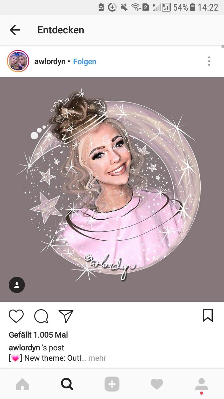 Viele haben auf Instagram so ein Profilbild was so