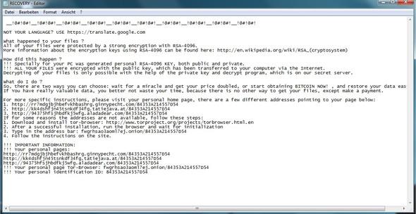 Nachricht  - (Computer, Virus, System)